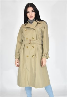 BURBERRY classic beige cotton trench coat
