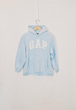 Vintage Gap Baby Blue Spell Out Fleece Hoodie