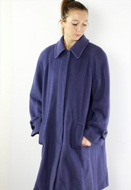 Vintage Wool Coat / Purple Wool Coat / Purple Coat