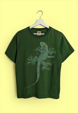 Vintage 90's TUCAN TICO Made in Costa Rica Iguana T-shirt