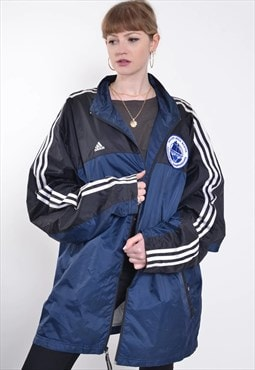 Vintage Adidas Windbreaker Jacket Blue