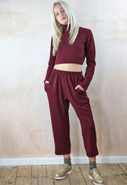 Turtleneck Top and Peg Pants Co-ordinates