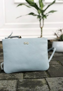 Real Leather Crossbody Bag for Women - Blue Clutch Bag