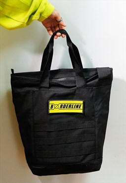 Utility tote bag yellow patch