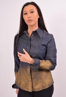Vintage Fendi Denim Shirt Blue