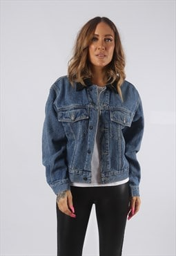 Vintage Denim Jacket UK 10 Small  (HDP)