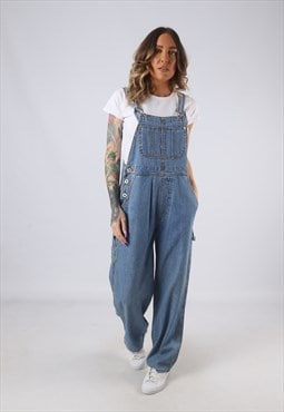Denim Dungarees JUST Wide Straight Leg UK 10 (K3C)