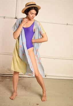 90's festival customized kimono summer top overswim