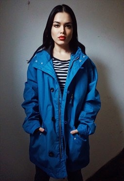 90s Vintage Electric Blue Jacket