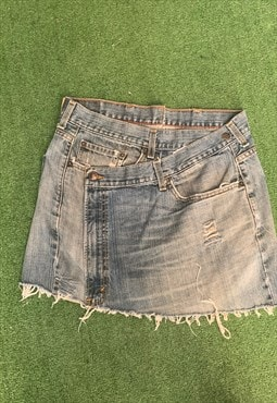 Vintage Levi's Reworked  Mini Denim Skirt