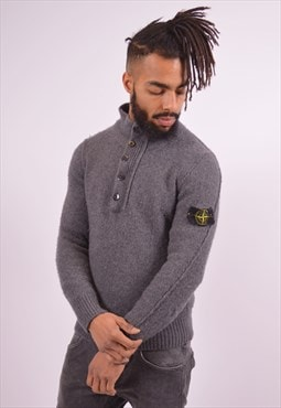 Stone Island Mens Vintage Jumper Sweater Medium Grey 90s