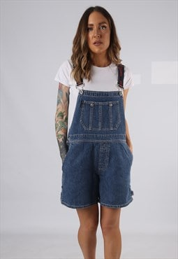 Vintage Denim Dungaree Shorts DKNY UK 14 Large (HD1Z)