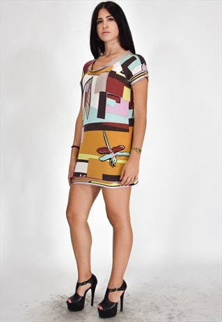 EMILIO PUCCI VINTAGE MULTICOLOUR DRESS CASUAL