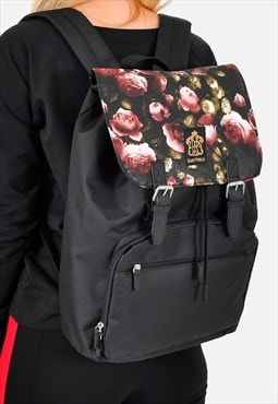 Dark floral  Panel Laptop Backpack