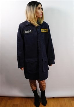 Utility lab workwear style Parka coat