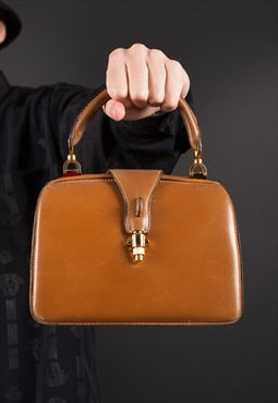RARE // Tan Handbag from the 60s by GUCCI