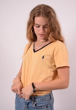 Vintage Ralph Lauren T-Shirt Top Yellow