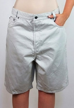 Vintage Boyfriend Bermuda Shorts in Light Grey