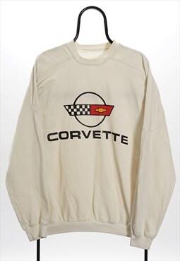 Vintage White Corvette Racing Sweatshirt