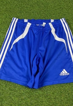Vintage Adidas Shorts in Blue with Logo, No Drawstring