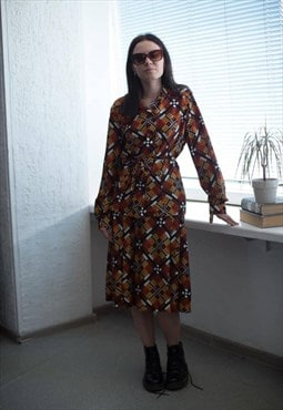 Vintage Patterned Skirt and Blouse Co-ordinates