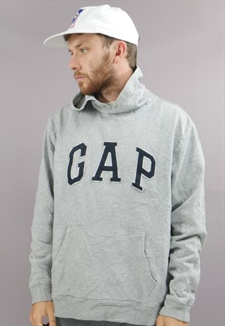 VINTAGE GAP HOODIE IN GREY WITH LOGO
