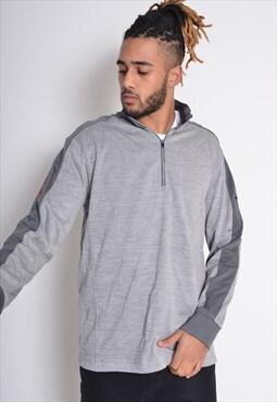 Vintage Nike 1/4 Zip Sweatshirt Grey