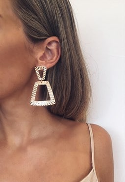 Gold Mimi Statement Earrings