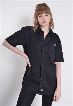 Vintate Dickies Workwear Shirt Shorts Sleeve Black