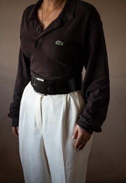 Brown Lacoste Polo Top (Sz 6)