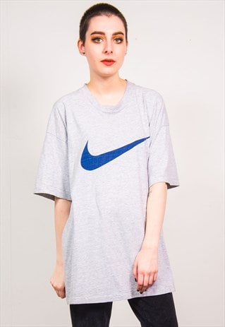 NIKE VINTAGE 90'S LIGHT GREY OVERSIZED SPORTS T-SHIRT