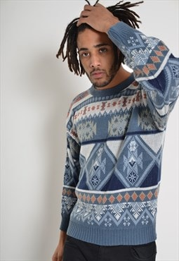 Vintage Abstract Crazy Patterned Cosby Jumper