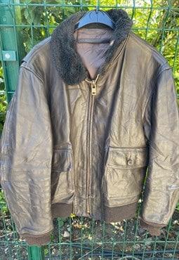 Vintage A2 Pilot Flying/Aviator Leather Jacket