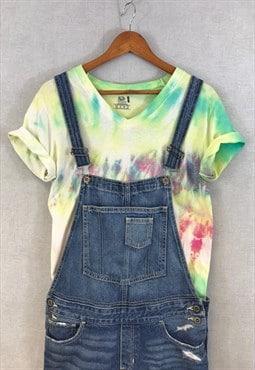 Vintage 90s Tie Dye Tee T-Shirt Pastel V Neck