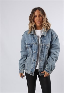 Denim Jacket PIONEER Oversized Fitted UK 16 - 18 (G6BZ)
