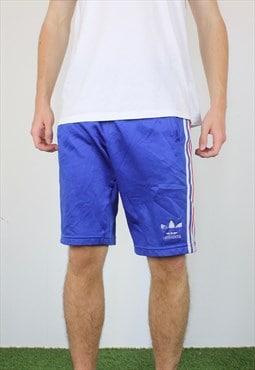 Vintage Adidas Basketball Shorts in Blue with Trefoil Logo