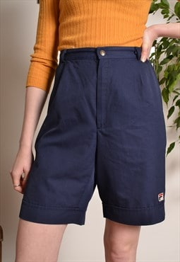 Vintage FILA High Waist Shorts in Navy Blue