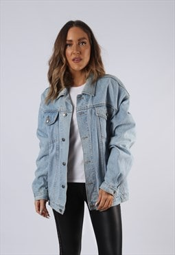 Vintage Denim Jacket Oversized Fitted UK 16-18 XL (HC3N)