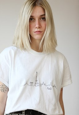 Vintage 90's Oversize Graphic Print T-shirt in White