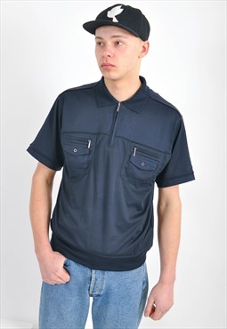 Vintage polo shirt in navy