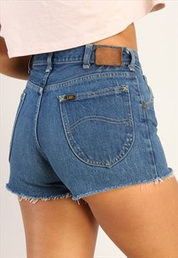 Vintage Lee high waisted reworked denim shorts X443