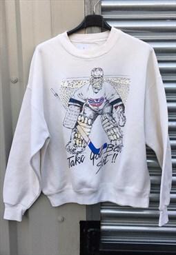 90's Ice Hockey Team  Lounge wear Sweatshirt