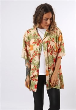 Print Patterned Shirt Oversized Festival UK 18 - 20 (D73C)