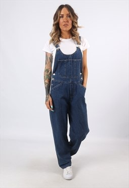 Denim Dungarees XHILARATION Wide Straight Legs UK 10 (H8BE)