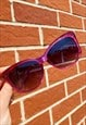 VINTAGE INSPIRED SUNGLASSES BIG CAT EYE IN PINK WITH UV400