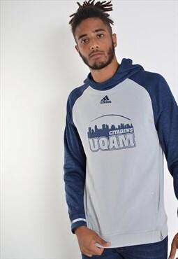 Vintage Adidas Sweatshirt Hoodie Grey