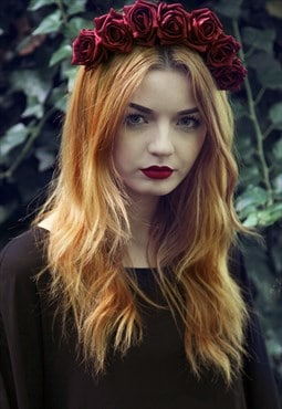 Flower Crown, Rose Flower Crown, Floral Crown, Boho Hair