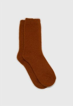 Camel angora smooth socks