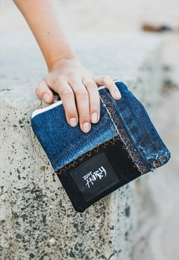 Medium Purse In Patchwork Denim