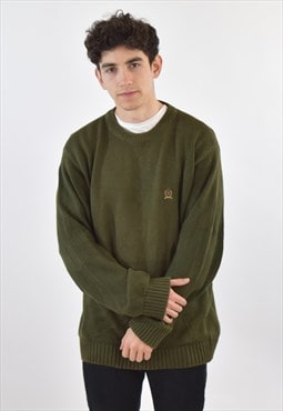Vintage 90s Green Tommy Hilfiger Knit Sweater